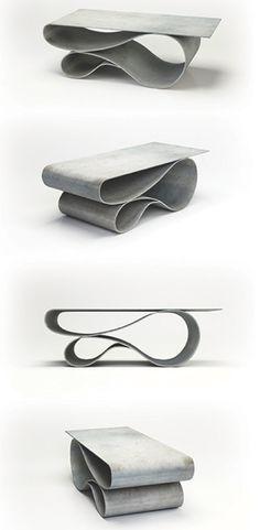 Concrete Canvas Table by Neal Aronowitz. nealaronowitz.com