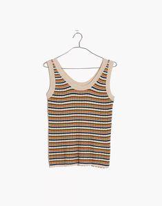 Women's New Arrivals: Clothing, Bags & More | Madewell Ribbed Sweater, Merino Wool, Denim Skirt, Madewell, Slim, Tank Tops, Skirts, Sweaters, Cotton