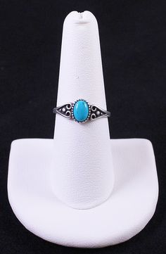 Vintage Native American Navajo Signed Sterling Silver & Turquoise Ring Wilbur Anderson by Paststore by paststore on Etsy