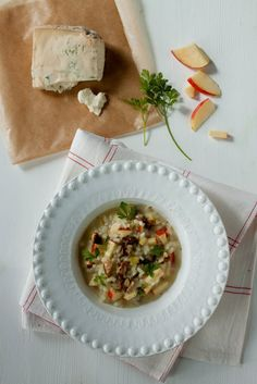 Apple and Walnut Risotto with Gorgonzola