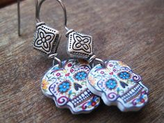 Hey, I found this really awesome Etsy listing at https://www.etsy.com/listing/108771690/mexican-earrings-day-of-the-dead-vintage