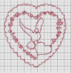 Cross stitch *♥* Point de croix Coeur wedding.jpg