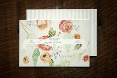 Glitter Watercolor Lace Wedding Invitations Crissie McDowell6 550x366 Ashley + Joes Romantic Watercolor and Lace Wedding Invitations
