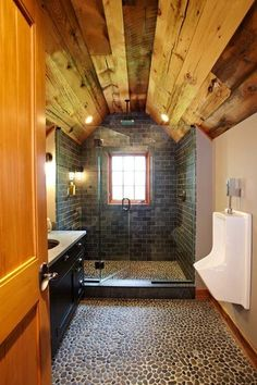 Every man-cave should have a men's bathroom...