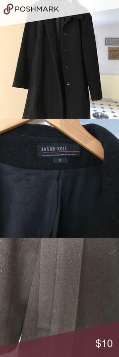 Jason Kole Black Pea Coat Simple Black Wool Pea Coat elegant neutral for any occasion. Jason Kole Jackets & Coats Pea Coats