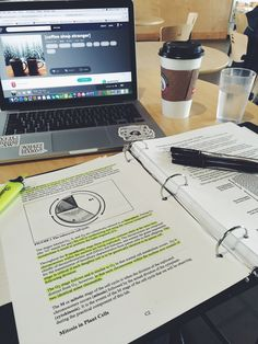 hustlesleeprepeat: 10/21/15 11:05 am pre-lab for bio and morning coffee