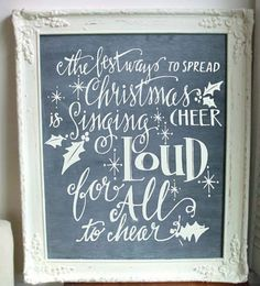 The Best Way To Spread Christmas Cheer Is Singing Loud For All To Hear. Hand-Drawn Christmas Vinyl Wall Decal. on Etsy, $9.00