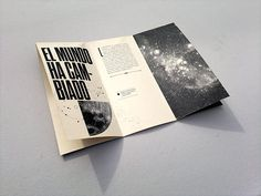 "Experimental Brochure - ""El infinito, ahora"" on Behance"