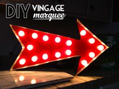 How-To: DIY Vintage Marquee Arrow - cuteness from @Kendall Shiffler