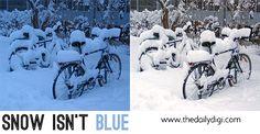Blue snow fix