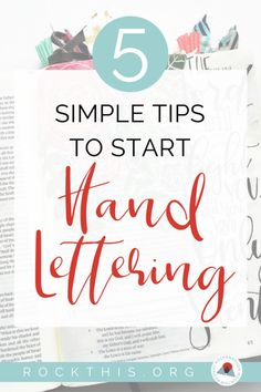 If you've ever wanted to learn hand lettering, check out these easy-to-follow tips to get you started. It even includes hand lettering practice sheets! #handlettering #biblejournaling #howtoletter