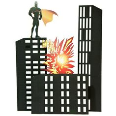 """Downtown Defenders and Buildings Kit (set of 3)Don't worry. You can always count on your heroes of the night to always defend your superhero Prom city! Downtown Defenders and Buildings Kit includes three buildings that range from 8'-11'7"""" h x 30""""-5'8"""" w. All buildings are 18"""" deep. NOTE: This kit requires the use of sandbags or weights for maximum stability. Assembly time: 4 hours, 3-4 people   Sale:  $199.00"""