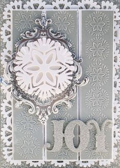 Anna Griffin dies & embossing folders with foil flourishes!  ;)