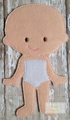 Felt Bald Girl Doll by NettiesNeedlesToo on Etsy, $7.00...dress up doll in felt
