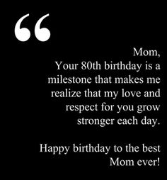 Happy 80th Birthday Dear Mom Wishes For Mother