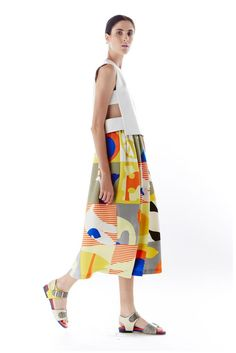 Cut outs and Bright colorful prints& patterns Novis Spring 2015 Ready-to-Wear - Collection - Gallery - Look 1 - Style.com