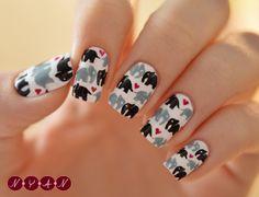 Shut. UP! These are too cute! I LOVE elephants!! NOTYOURAVERAGENAILS #nail #nails #nailart