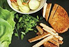 Meatless peking chick'n lettuce wraps by Gardein