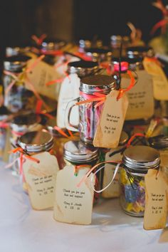 Rustic Style Wedding Favors