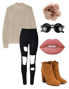Casual by emmaszarka on Polyvore featuring polyvore, fashion, style, Theory, WithChic, Laurence Dacade, Accessorize, Lime Crime and clothing