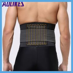 AOLIKES Lumbar Support Waist Pain Back Injury Supporting Brace For Fitness Weightlifting Belts Sports Safety Corrector Espalda