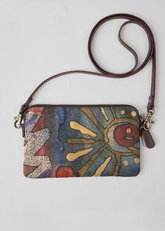VIDA Leather Statement Clutch - desert clutch by VIDA QE6lgM