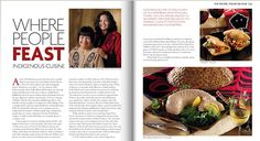 Article and recipes from the Where People Feast, An Indigenous People's Cookbook, authored by Dolly and Annie, was featured in the Taste of BC magazine published by BC Liquor Stores.