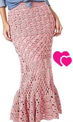 This long crochet skirt is beautiful, wonderful, super trendy💞👀🎤😍 Skirt Pattern Free, Crochet Skirt Pattern, Crochet Skirts, Knit Skirt, Crochet Clothes, Lace Skirt, Knit Crochet, Crochet For Boys, Beautiful Crochet