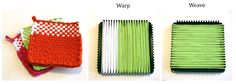 Loom Potholder Tutorial - v e r y p i n k . c o m - knitting patterns and video tutorials