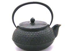 vintage iron tea kettle