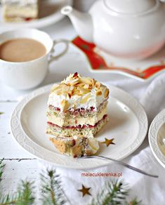 Ciasto Maczek Chałwowy z Konfiturą Slow Food, No Bake Cake, Nutella, Pancakes, Recipies, Cheesecake, Mac, Sweets, Baking