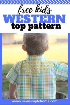 Free Kids Cowboy Western Shirt PDF Pattern