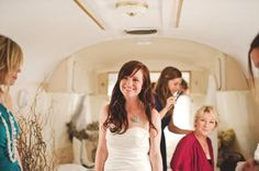 The ideal bridal suite - in an Airstream!
