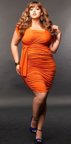Short convertible dress in tangerine