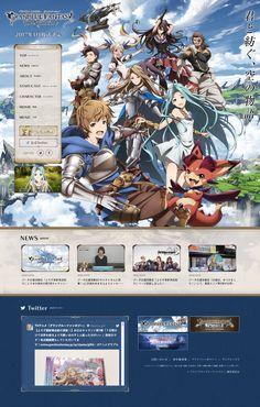 グランブルーファンタジー ジ・アニメーション 公式サイト Web Design, Game Design, Pix Art, Japanese Games, Website Designs, Website Design Inspiration, Game Ui, Design Development, Promotion