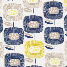 Cloud9 Block Blooms Navy Around the Block by Skinny LaMinx  Organic Quilting Cotton