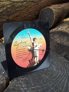 Supertramp Upcycled vinyl record clock by recyclemania on Etsy, $15.00
