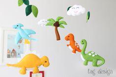 """Mobile """" Dinos"""" von Tag Design auf DaWanda.com"""