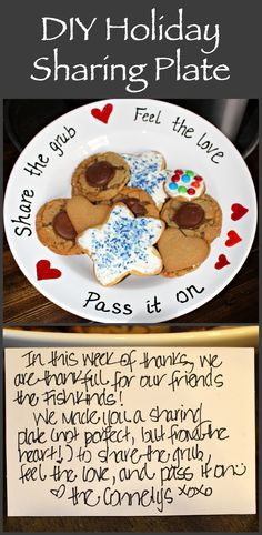 Holiday Sharing Plate - pass it on