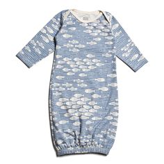 Baby Gown - Under The Sea Blue - Winter Water Factory