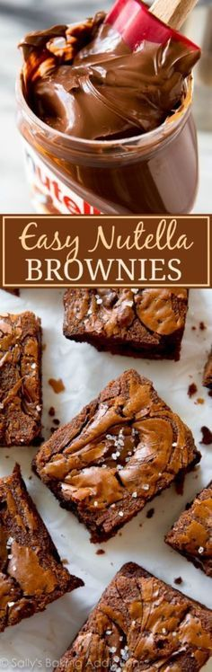 EASY Nutella brownies are incredibly rich and fudgy! You haven't had a brownie like this!