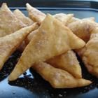 Yummy recipe for Sopapillas (4 1/2 stars & 143 reviews) 4 c flour, 2 tsp baking powder, 1 tsp salt, 4 Tbsp shortening (we used butter), 1 1/2 c warm water, oil for frying