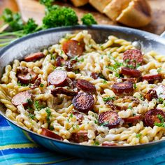 Pasta with Sun-Dried Tomato Sauce and Sausage