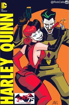 Joker & Harley byRick Celis.