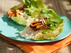 Get Asian Pork Lettuce Cups Recipe from Food Network