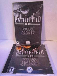 Battlefield 1942: Secret Weapons of WWII (PC, 2003) Disc & Manual Computer Game