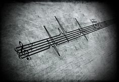 heart beats to music- this would make an interesting tattoo for an artist or music lover