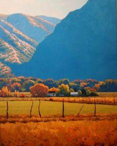 Solve Morning Farm jigsaw puzzle online with 99 pieces Contemporary Landscape, Landscape Art, Landscape Paintings, Guache, Traditional Paintings, Art For Art Sake, Pastel Art, Pictures To Paint, Art Techniques