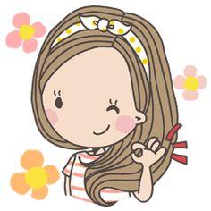 Cute Cartoon Girl, Cartoon Kids, Cartoon Drawings, Drawing Sketches, Science Projects For Kids, Daisy Love, Cute Fonts, Cartoon Wallpaper, Doodle Art