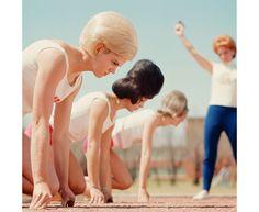 L'équipe des Bouffant Belles lors du départ d'une course, Texas, 1964.